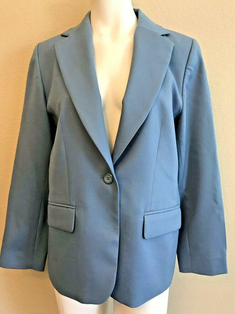 Pendleton Ladies 12 P Light Blue Blazer Virgin Wool Lined Petite Career Jacket Pendleton Suitjacketbla Light Blue Blazers Womens Plaid Blazer Red Dress Pants