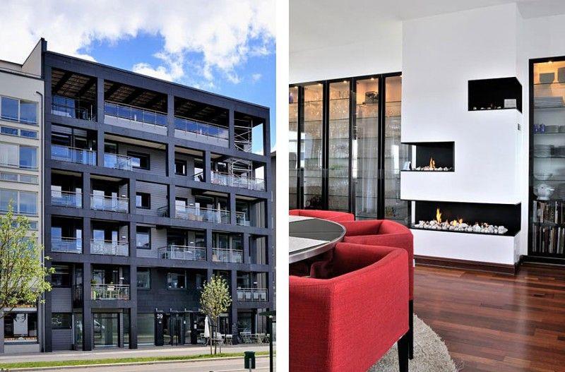 Scandinavian Design Beautiful Duplex Penthouse in Malmö Sweden