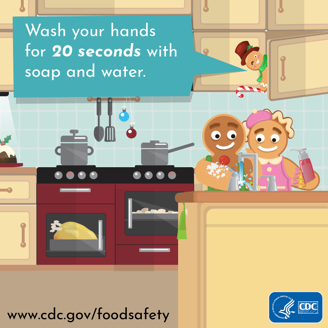Wash your hands for 20 seconds with soap and water CDC