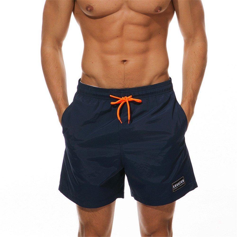 UHT28DG Cute Pineapple Flower Pattern Mens Lightweight Beach Shorts Summer Casual Pockets Swim Trunks