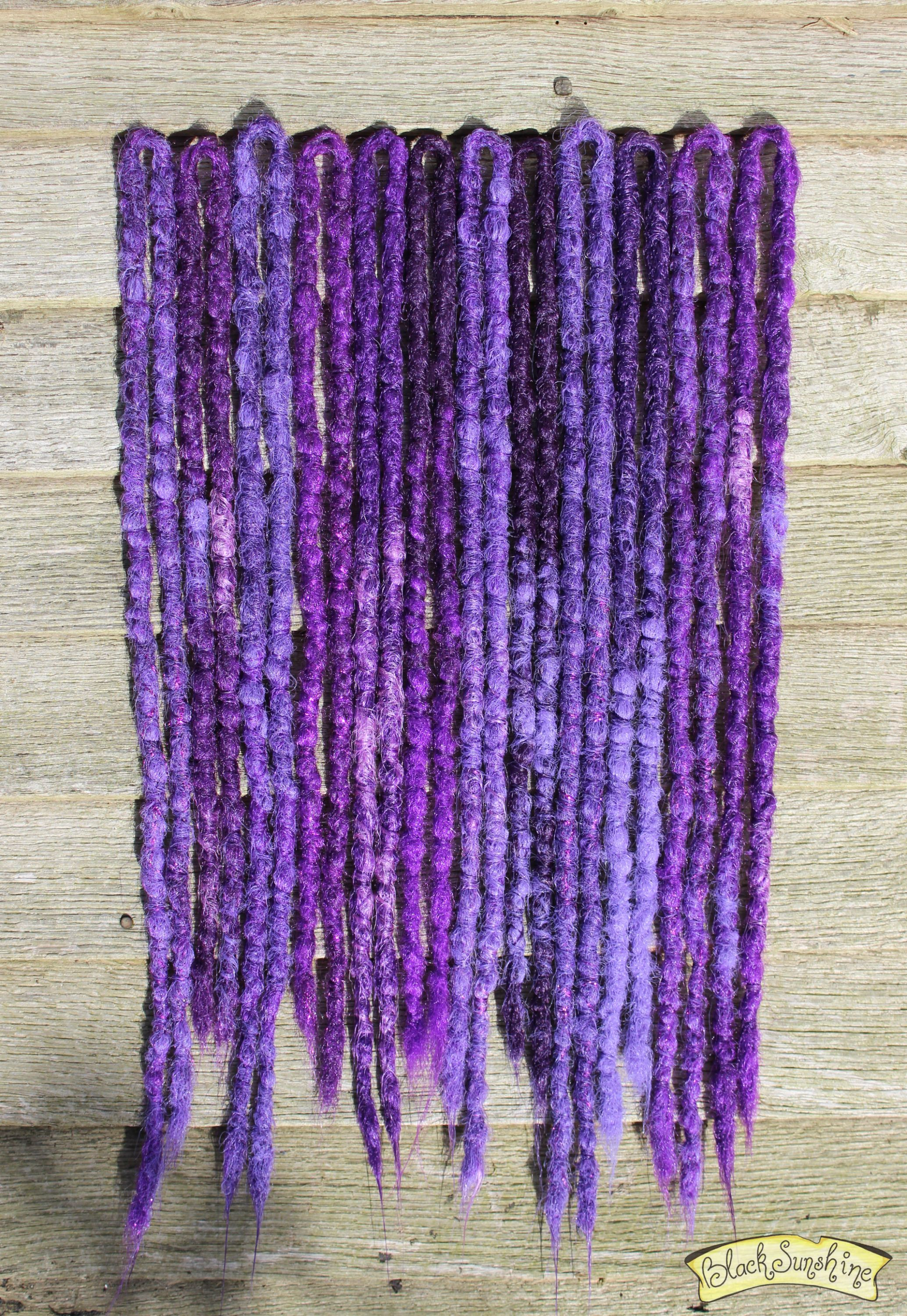 'Purple Rain' Crochet synthetic dreads by Black Sunshine
