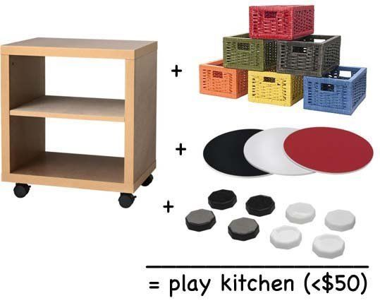 Look! Improvised Ikea Play Kitchen