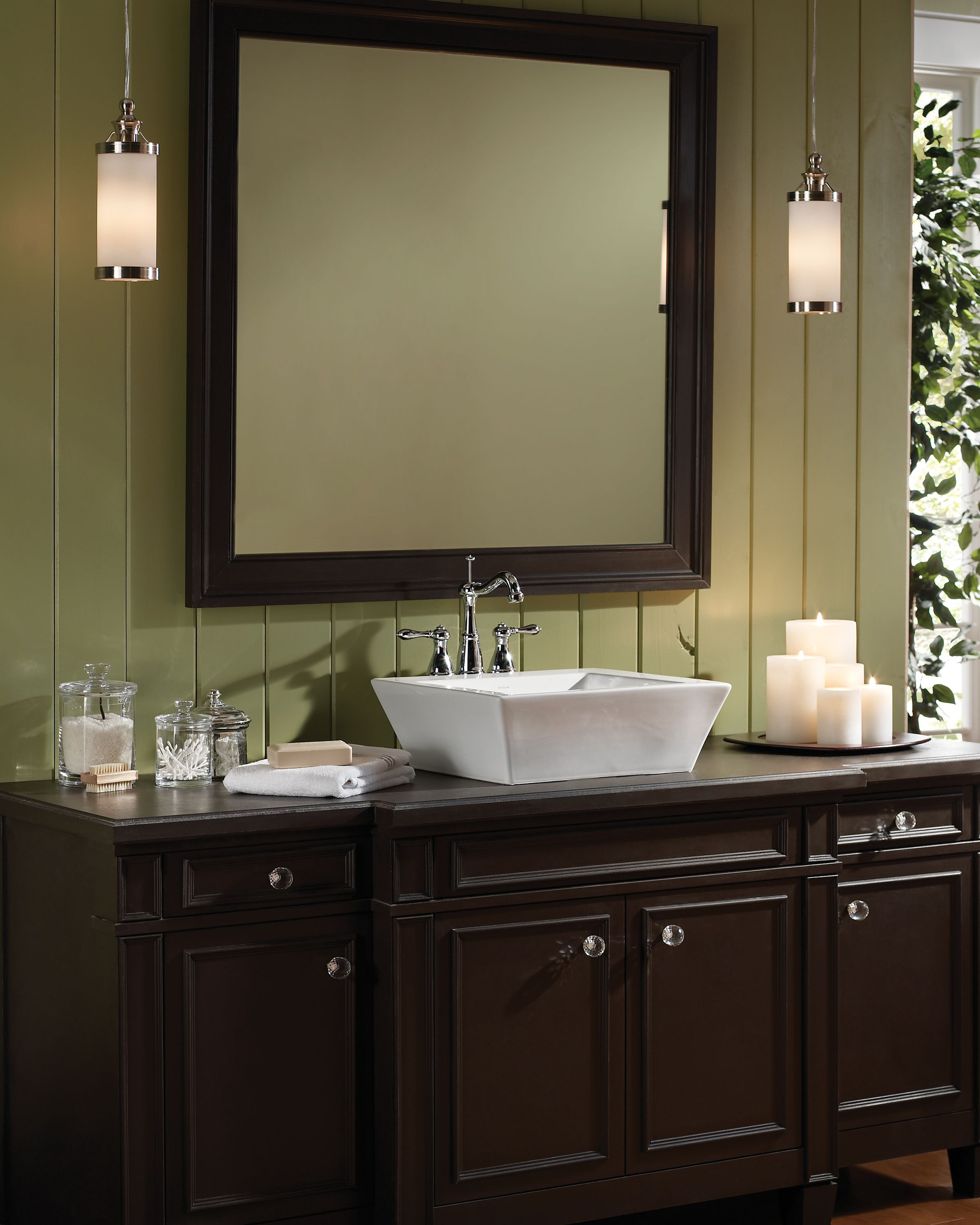 Bridgeport pendant by tech lighting in bathroom for Bathroom pendant lighting ideas