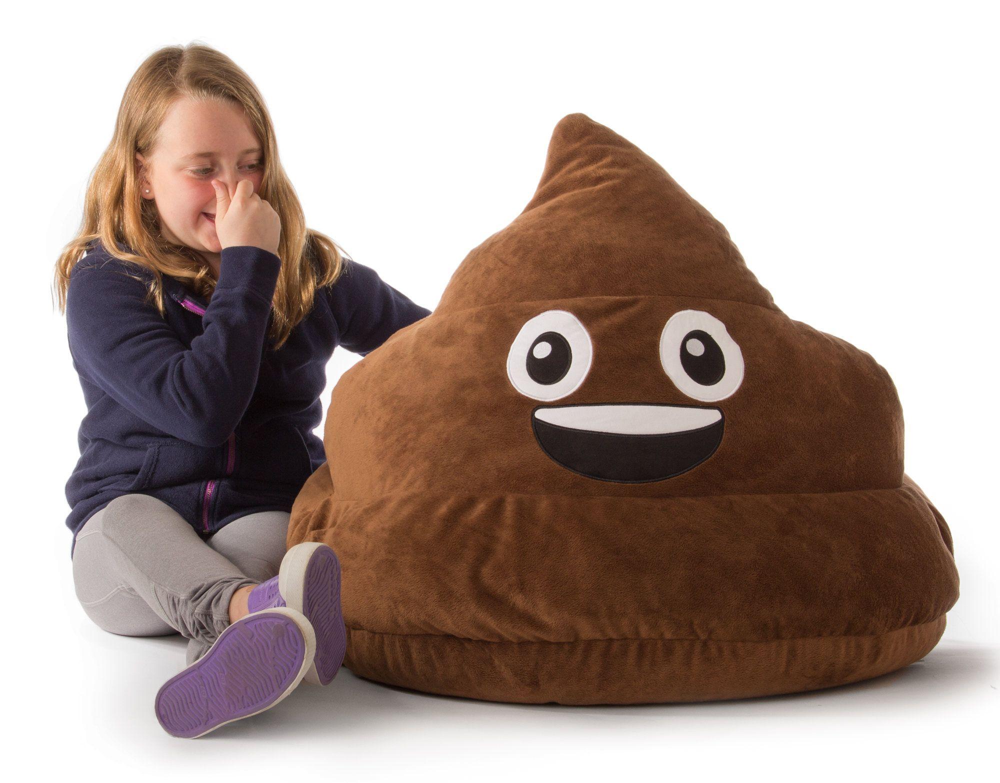 Gomoji Emoji Poo Bean Bag Chair Bean Bag Chair Emoji Bean Bag Childrens Bean Bags