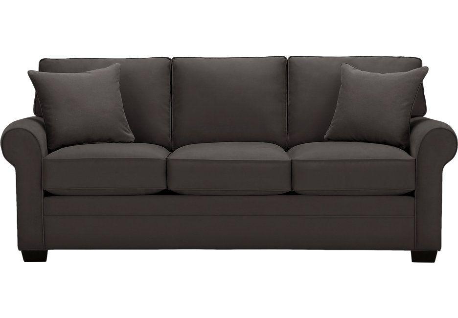 Cindy Crawford Home Bellingham Slate Sofa Sofas Gray Slate