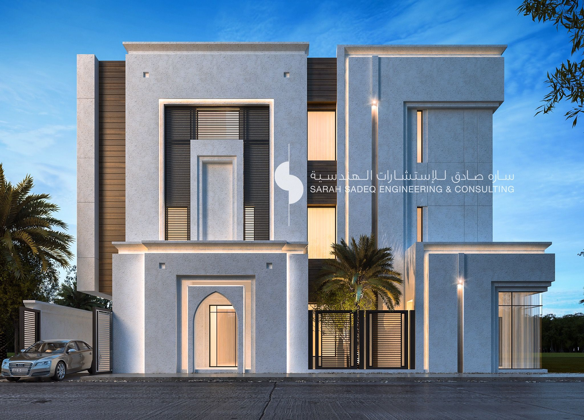 500 M Private Villa Kuwait By Sarah Sadeq Architects Facade Architecture Design Classic House Exterior Architect House