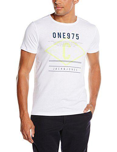 JACK & JONES Herren T-Shirt Jjcotag Tee Ss Crew Neck, mit Print,