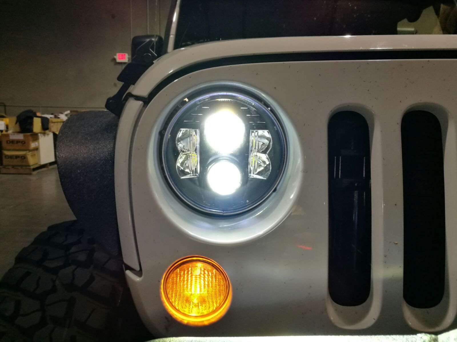 Close Up Shot Of These Apollo Amazing Bright Headlights 7 Inch For