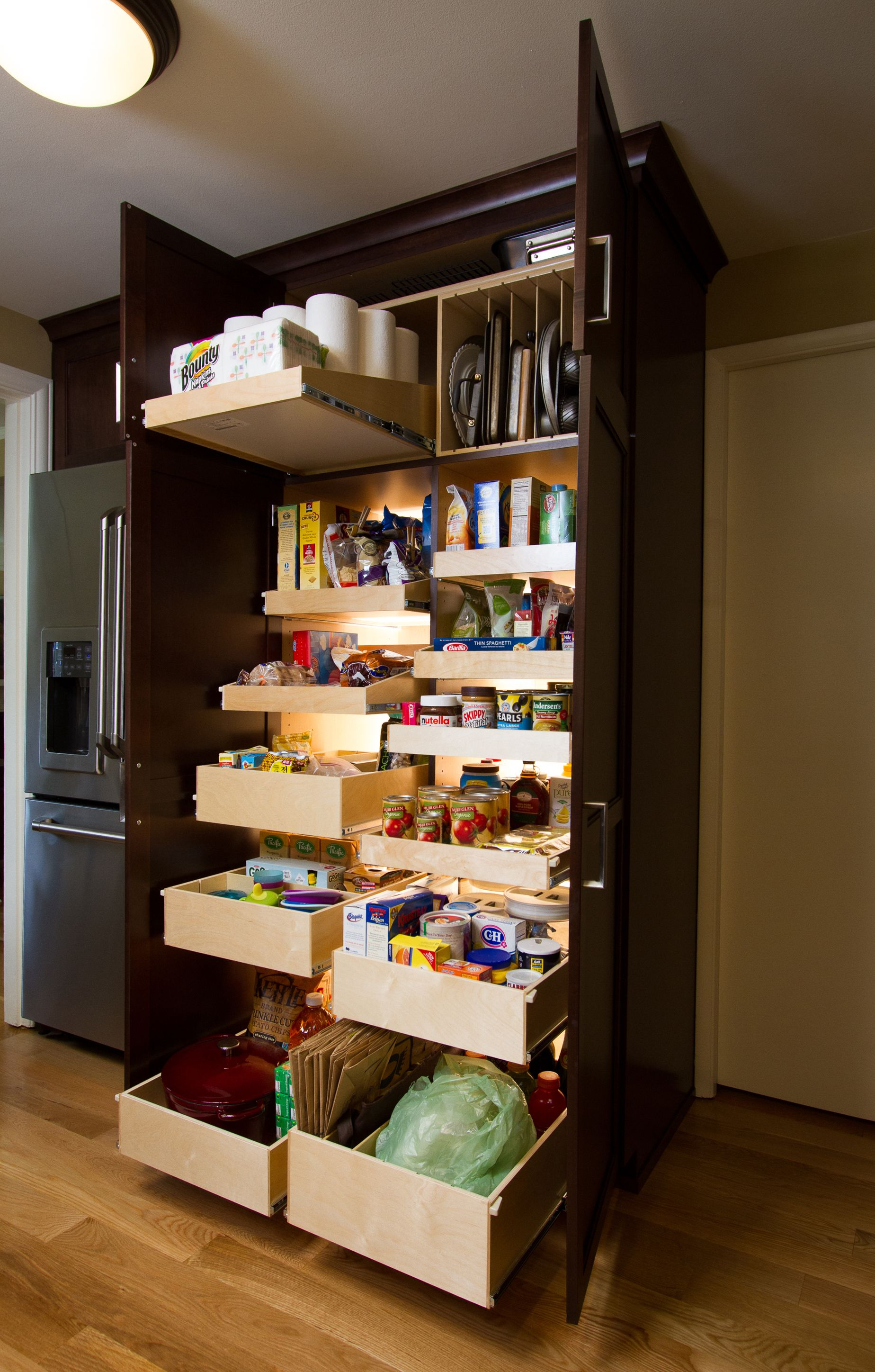 Best Kitchen Gallery: Sneaky Storage Spaces That Will Declutter Your Kitchen Pantry of Custom Kitchen Pantry Cabinets on rachelxblog.com