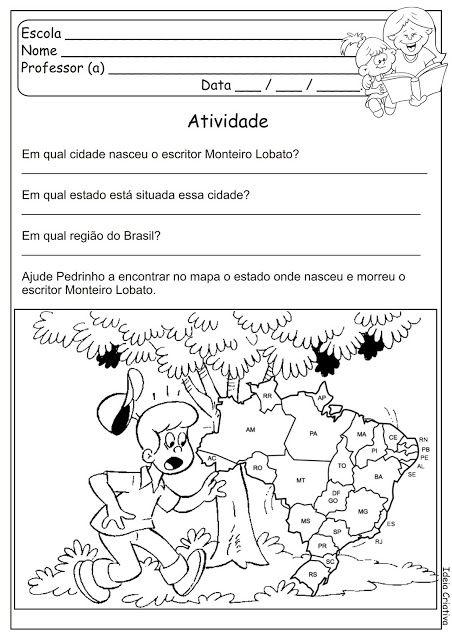 Aprendizagem E Alfabetizacao Sitio Do Picapau Amarelo Monteiro