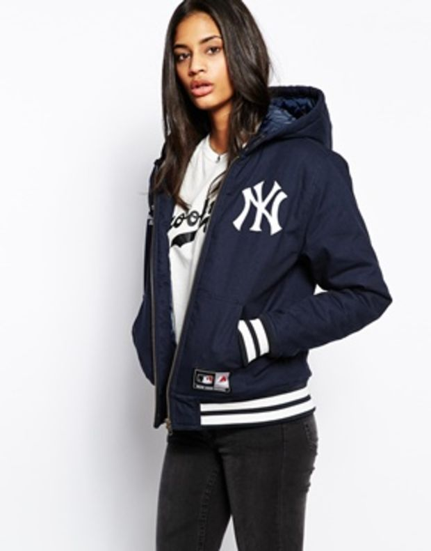 0edf64774 Majestic New York Yankees Hooded Coat | New York Yankees/Derek Jeter ...