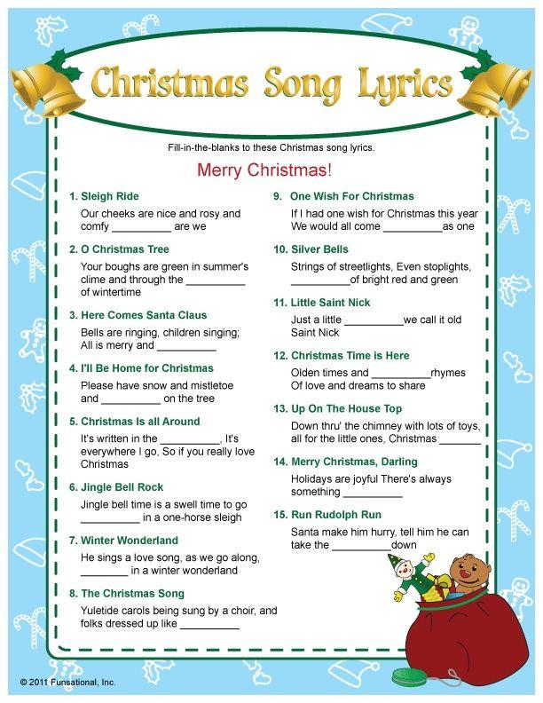 free christmas bingo free printable - Google Search   Christmas trivia, Christmas songs lyrics ...