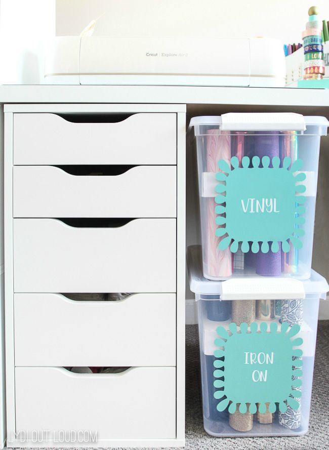 Cricut Supply Organization with Martha Stewart images