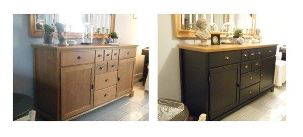 buffet ikea avant apr s photo 2 meubles repeints. Black Bedroom Furniture Sets. Home Design Ideas