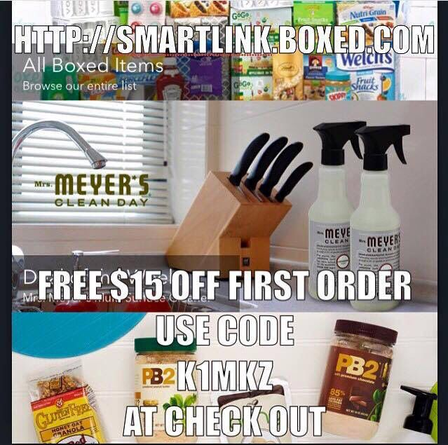 This is a deal you don't want to pass up! I have ordered from them 3 times already, Boxed is a company a lot like Sams Club or Cotsco that conveniently delivers wholesale to your door! Here's a FREE $ 15.00 off your first $45.00 order and Free shipping. Just enter K1MKZ on checkout.  http://smartlink.boxed.com/  (limit one per household, one per account)