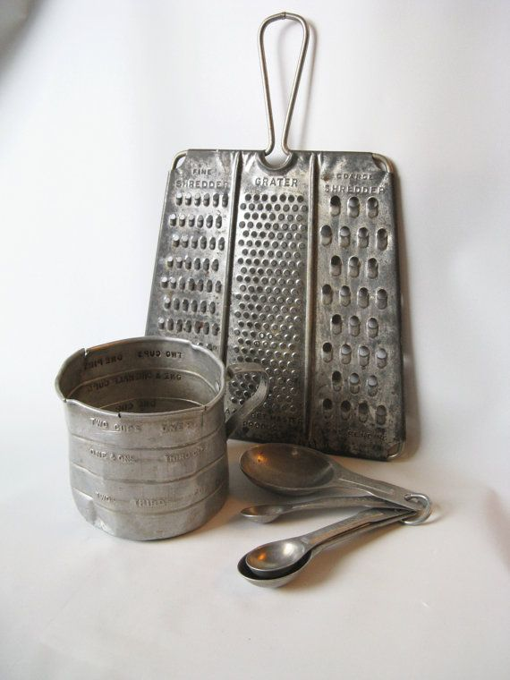 Old Kitchen Utensils Lot Odd Shaped Grater By