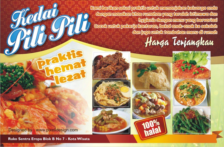 Contoh Banner Spanduk Rumah Makan Restaurant Cafe
