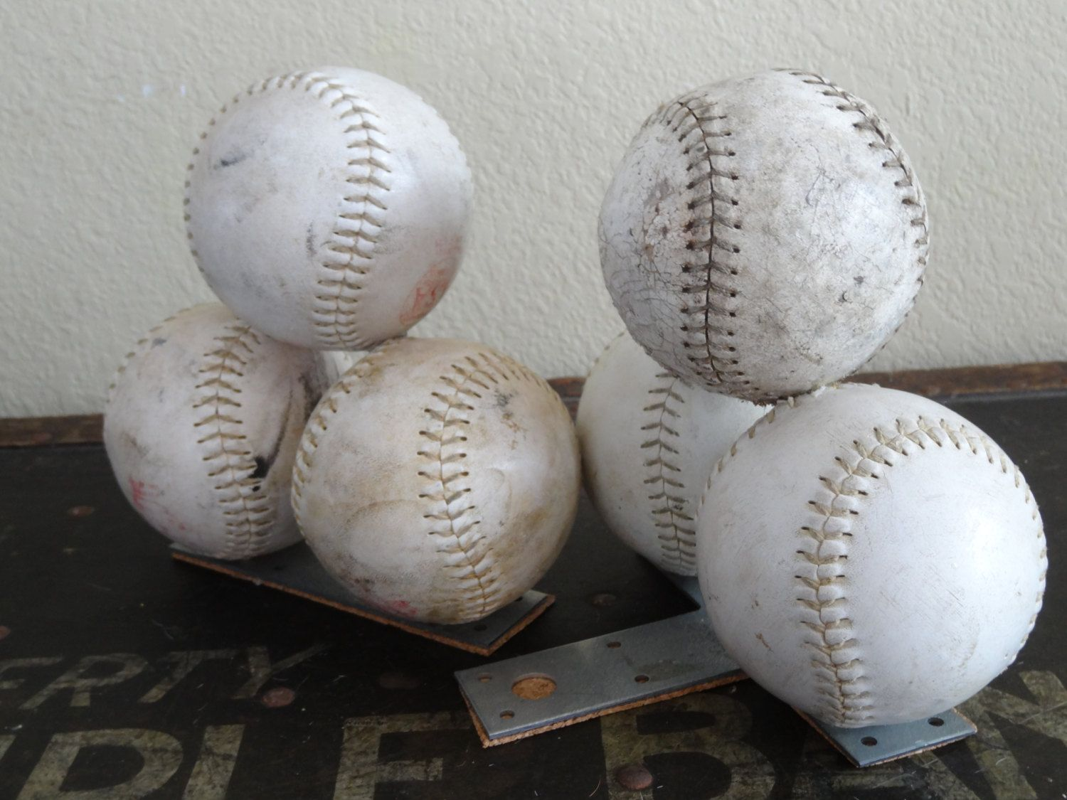 Softball Vintage Book Ends by RedefineA2ndTime on Etsy