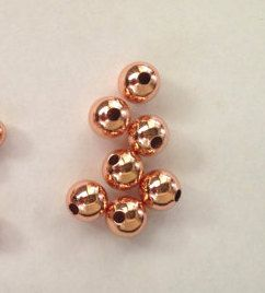 AA 100pcs 212mm 14K gold Solid Gold Beads Round spacer Beads rose
