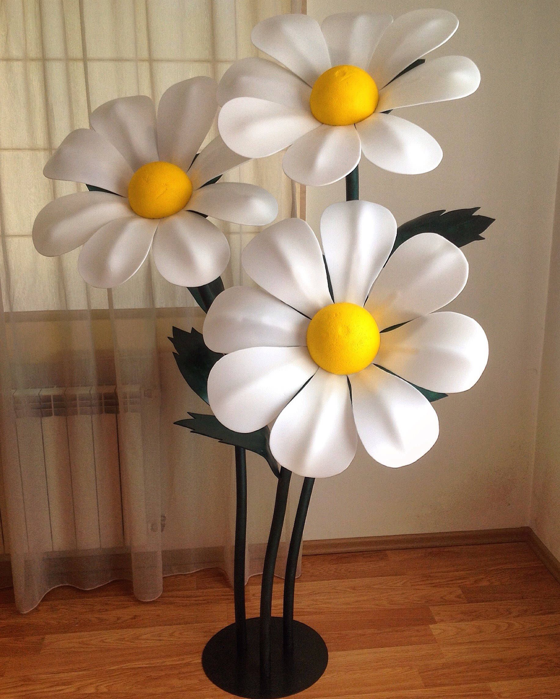 Giant Paper Flower Stem Paper Flowers Large Paper Flowers Stand With