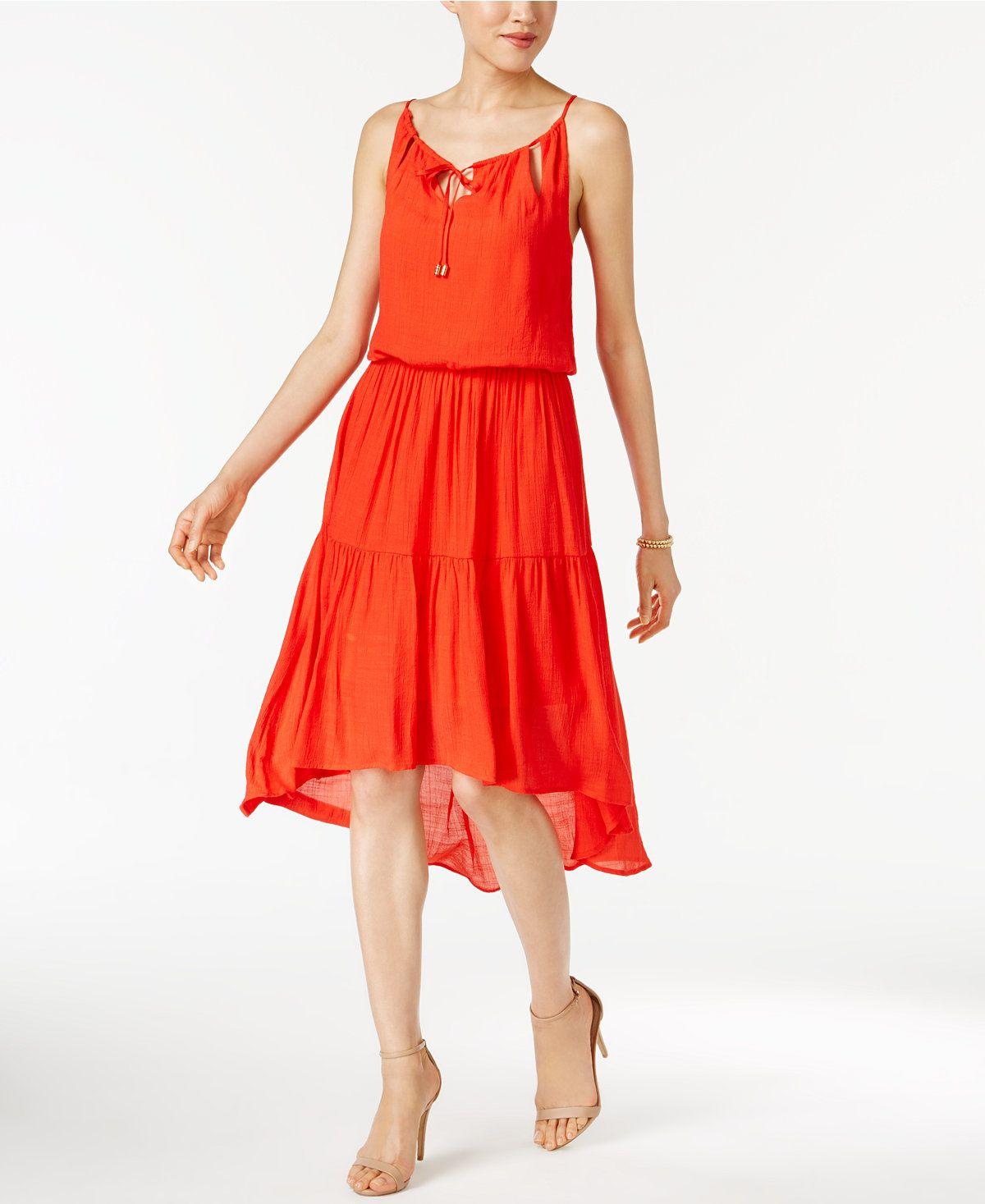 58de8fc1b71d0 sangria Blouson High-Low Dress - Tropical Dresses - SLP - Macy's ...