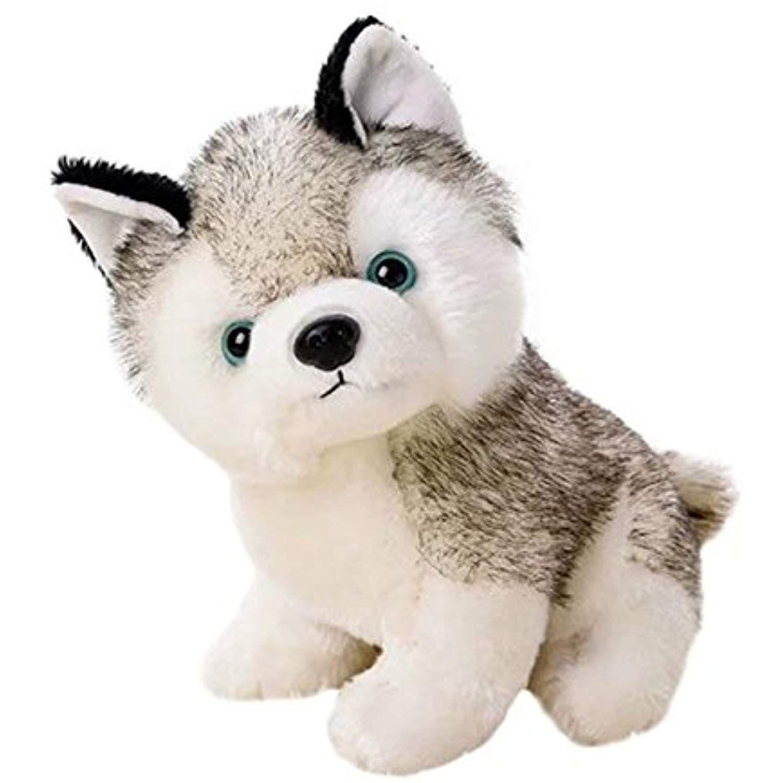 Katedy Cute Stuffed Husky Dog Plush Toy Dolls Baby Kids Pet Dog