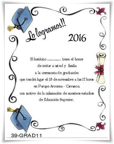 tarjeta de graduacion - Selol-ink