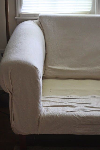 Awesome Diy Drop Cloth Sofa Recovering For Under 50 Even Better Pdpeps Interior Chair Design Pdpepsorg