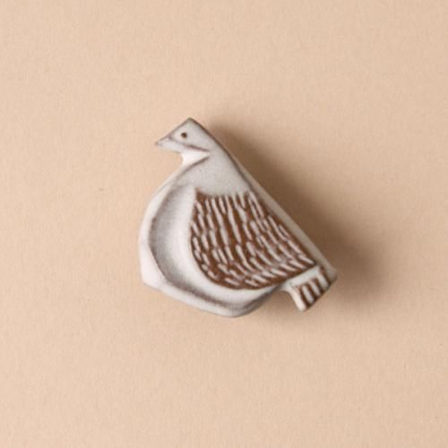 BIRDS' WORDS/bird tile brooch/B dieci|online shop