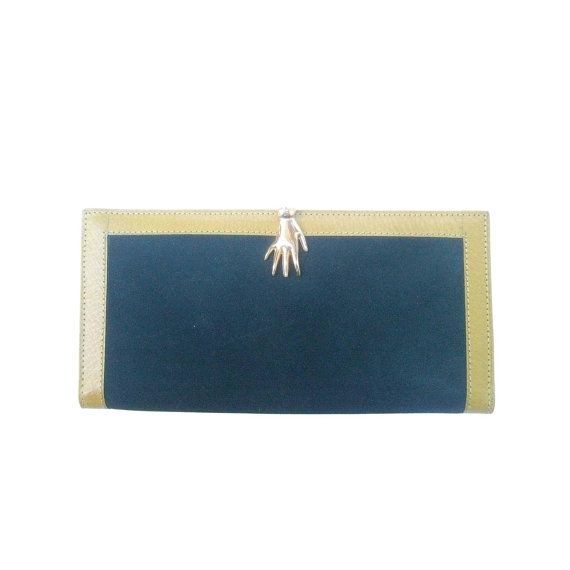 bcb32a0065bc1b Rare Gucci Green Suede Hand Clasp Wallet. 1970's. by 193KingsRoad ...