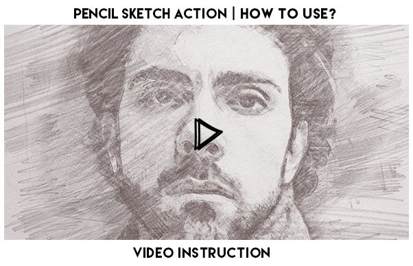 Pencil sketch action turns your photo into realistic pencil sketch action perfect works with portraits or other photos action contains 10 color fx