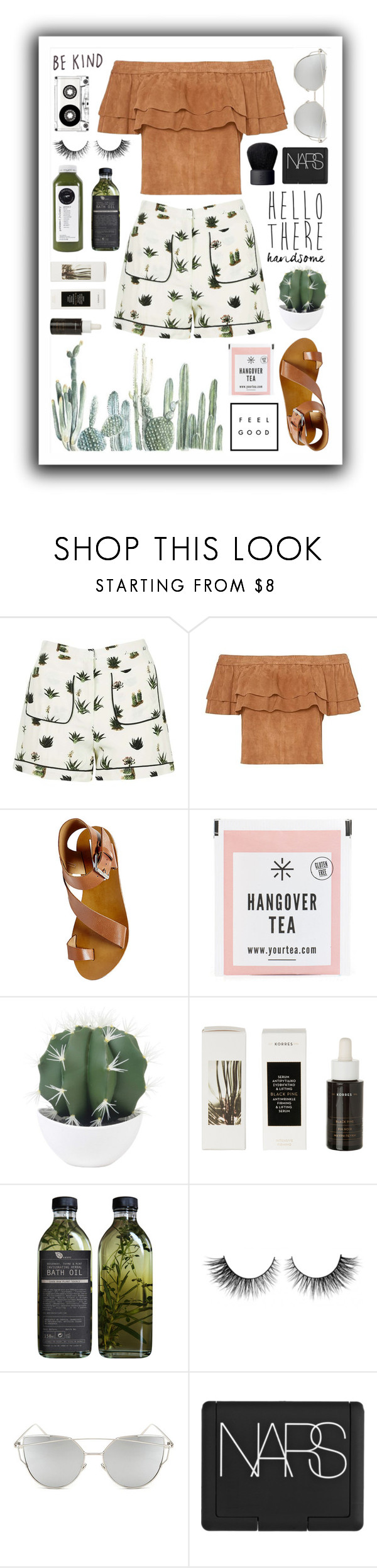 """""""Cacti"""" by nat-a-bee ❤ liked on Polyvore featuring Topshop, Steve Madden, Korres, Rimini, Chicnova Fashion, HANDSOM and NARS Cosmetics"""