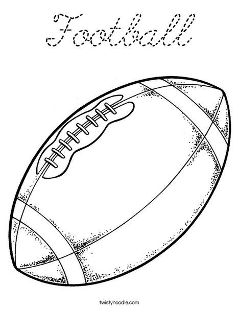 Football Coloring Page | coloring pages | Pinterest