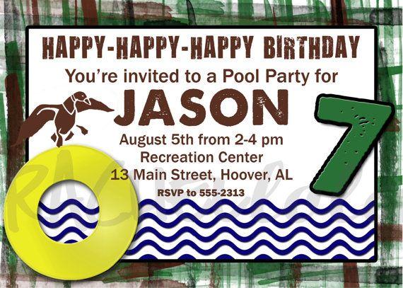 Duck dynasty pool party invitation birthday party idea pinterest duck dynasty pool party invitation filmwisefo