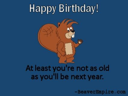 Munch Beaver Happy Birthday Ecard 4