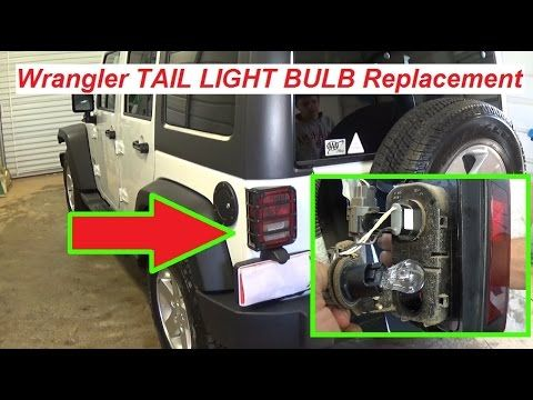 Jeep Wrangler Jk Tail Light Bulb Replacement Brake Light Bulb Turn