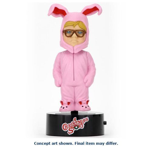 A Christmas Story Ralphie in Bunny Suit Solar-Powered Body Knocker