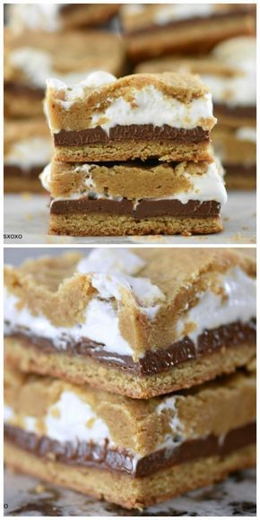 S'more Bars - Sweets & Treats | The Best Dessert Recipes on Pinterest! -
