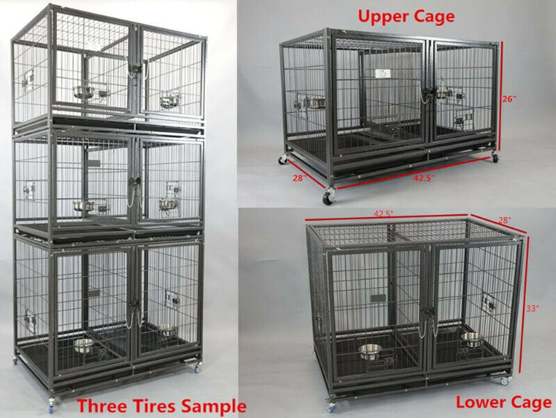 4 tier bird cage Parakeet Canary Finch small bird #2421 w//stand 4107 BLK-555