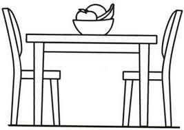 Resultado De Imagen Para Sillas Y Mesas Animadas Dibujos Para Colorear Sala De Unas Colores
