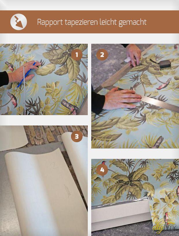 rapport tapezieren leicht gemacht selbermachen bauen renovieren pinterest. Black Bedroom Furniture Sets. Home Design Ideas