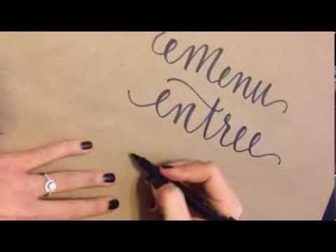 How to create faux calligraphy youtube design pinterest