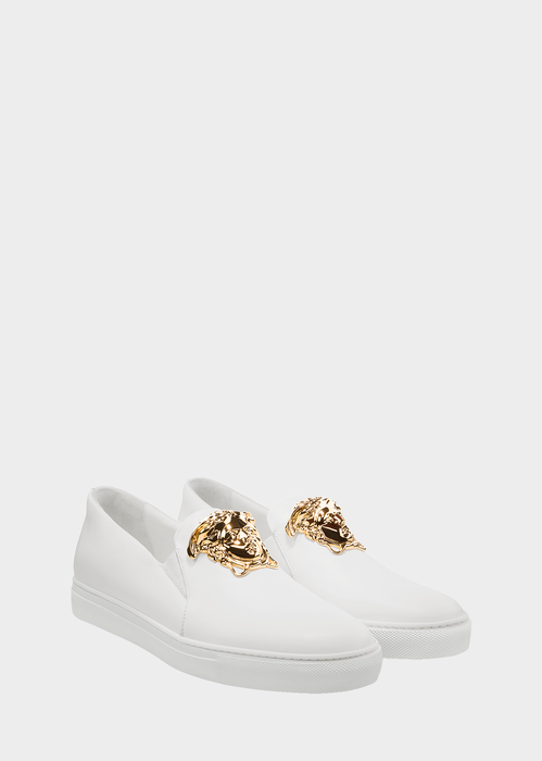 Versace Palazzo Slip-on Sneakers In