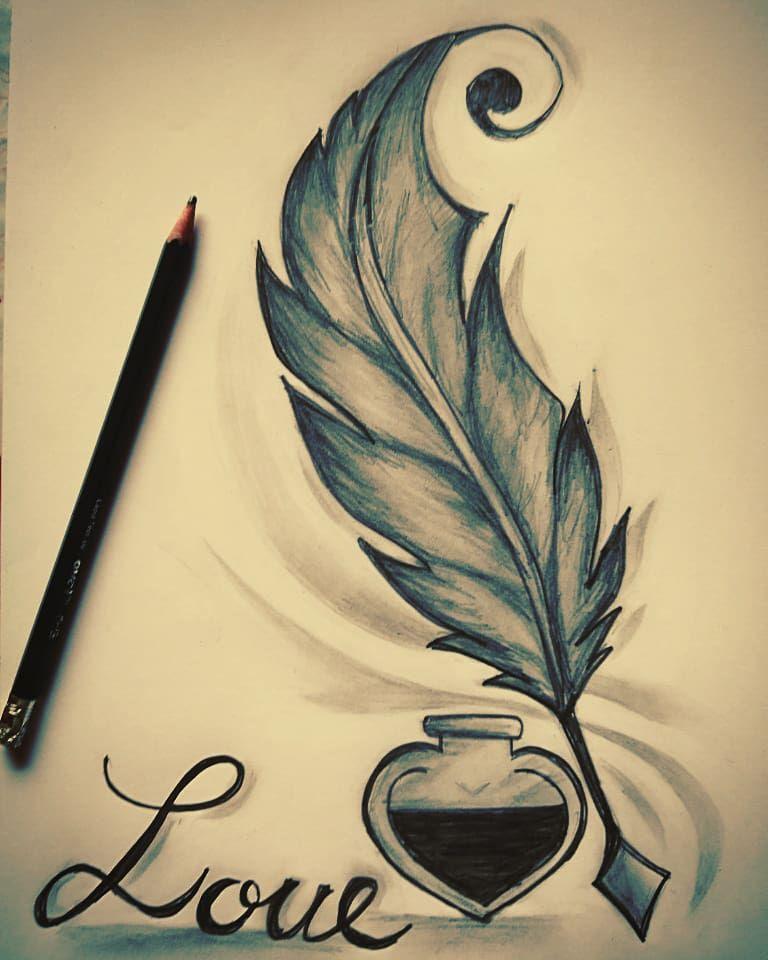 Dibujo Pluma Del Alma C Plumas Dibujos Proyectos De Arte Dibujos Kawaii