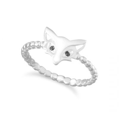 Cute Satin Finish Fox Ring Sterling Silver   Use My Jeweler's Code to Shop DSE9228