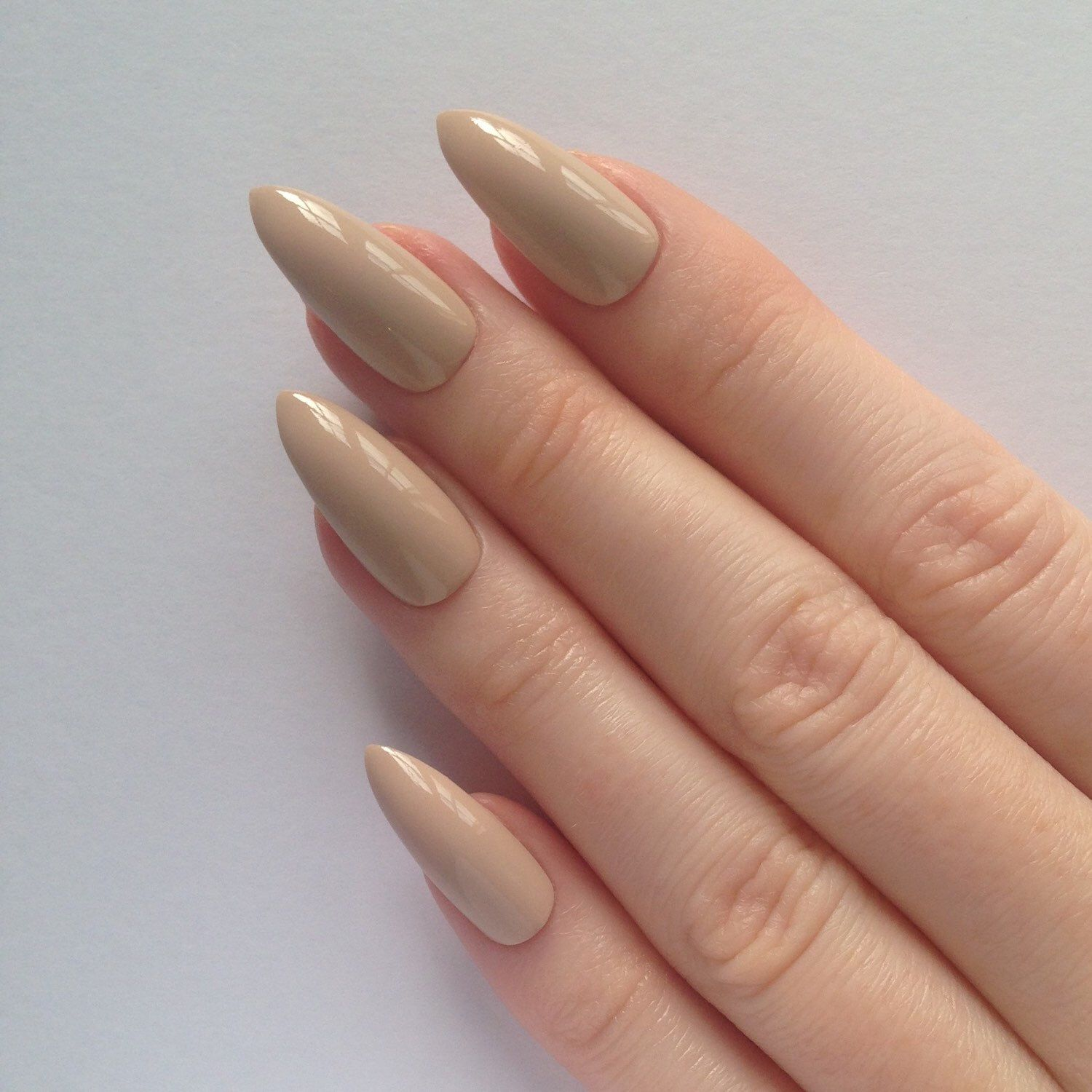 Stiletto nails, Nude stiletto nails, Fake nails, Press on nails ...