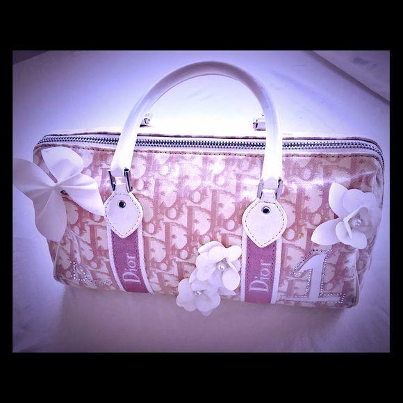 1524815dd0f4 Authentic Christian Dior Pink Boston Girly Handbag Vintage Authentic Christian  Dior