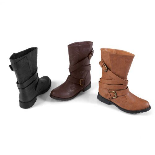 Hunger Games: Katniss Everdeen's Costume & Makeup. Brinley Co Womens Faux Leather Buckle Boot