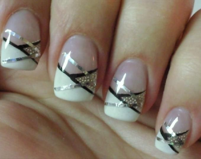 Prom nails for sure matches my dress perfectly! french manicure with ...