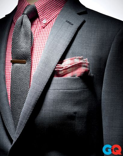 9f36ef69e2bd Charcoal suit with charcoal knit tie and cotton square to match shirt.  Nicely done.The Smallest Thing Makes the Biggest impact.